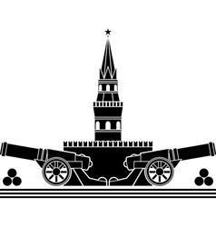 Stencil of russian kremlin vector