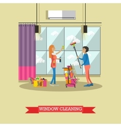 Cleaning service concept in vector
