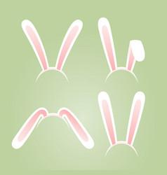 Bunny ears masks set vector