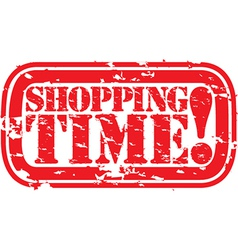 Shopping time stamp vector