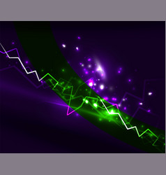 neon lightning background vector image