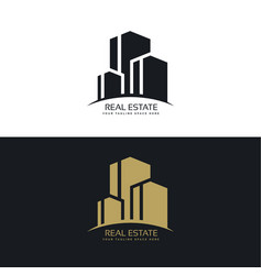 Real estate logo design concept design vector