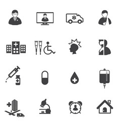Medical and hospital er icons vector