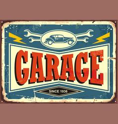 Vintage garage sign vector