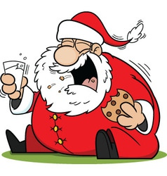Laughing santa claus cartoon vector