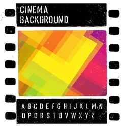 grunge colorful cinema background vector image