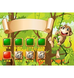 Monkey game design vector