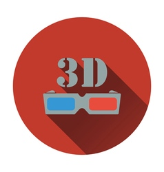3d goggle icon vector image vector image