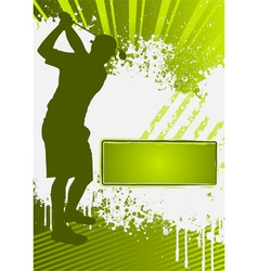 golf grunge poster template vector image