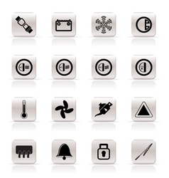 Car dashboard icons vector