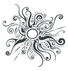 Sun rays ornament vector