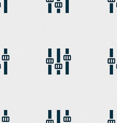 Equalizer icon sign seamless pattern with vector