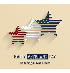 Veterans day design vector