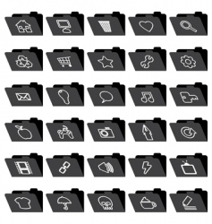 application folder icons vector image vector image