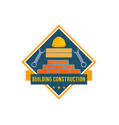 building and house construction tools icon vector image vector image
