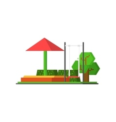 City kids playground vector