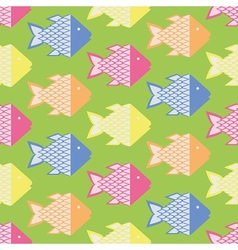 Colorful fish pattern vector image vector image