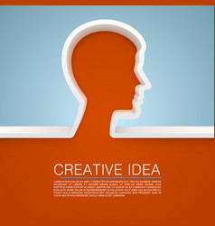 Creative idea hand vector