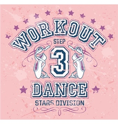 Dance Workout vector image vector image