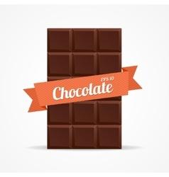 Dark Chocolate Bar Open vector image