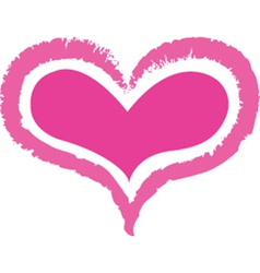 Double heart vector image vector image