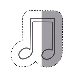 Figure sign music note icon vector