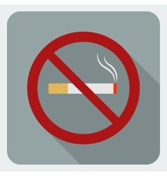 Flat icon no smoking Stop smoking symbol vector image vector image