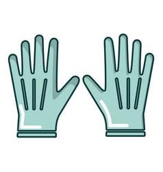 Gardening gloves icon cartoon style vector