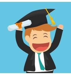 Graduation cap and cartoon icon university vector