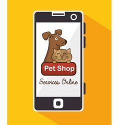 Group animals pet shop online vector