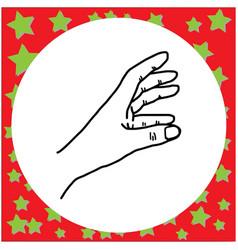 hand gesture grabbing vector image