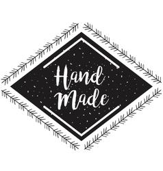 Hand made label monochrome icon vector