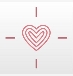 heart target logo icon vector image vector image