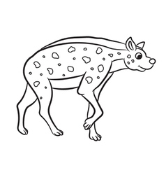 hyena standing outlined vector image vector image