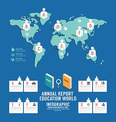 Infographic annual report Education world vector image vector image