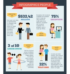 Infographic people set vector image