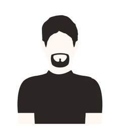 monochrome half body man with beard without face vector image vector image
