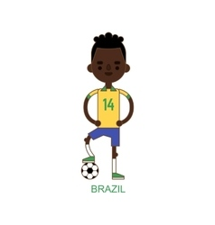 National brazil soccer football player vector