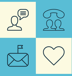 Network icons set collection of significant vector