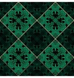 Patchwork emerald green texture vector