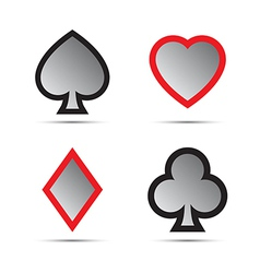 Playing card symbols vector image vector image