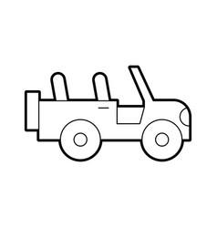 safari jeep isolated icon vector image
