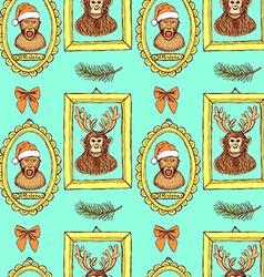 Sketch monkey vector image vector image