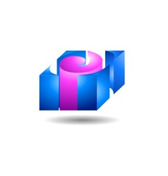 Solid block logo concept vector