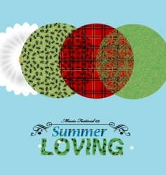 summer elements vector image vector image