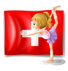 The flag of switzerland and the young ballet vector