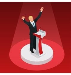 Us election 2016 infographic democrat republican vector