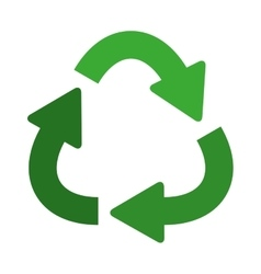 Green separate recycling symbol shape with arrows vector