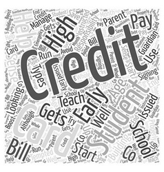 Credit cards for high school students word cloud vector