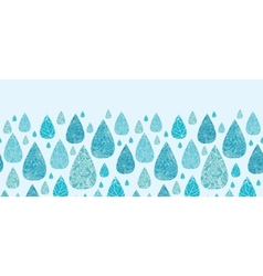 Rain drops textured horizontal seamless pattern vector